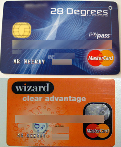 28 Degrees and Wizard Clear Advantage Mastercard