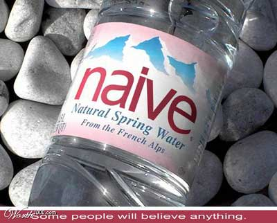 bottled water for naive people