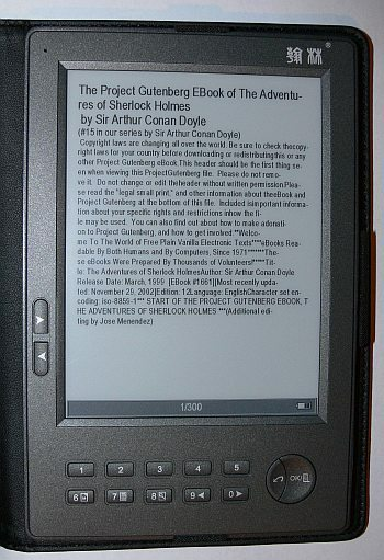 Book read on ebook reader