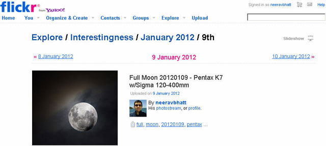flickr interesting featured photo