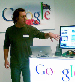 Jeremy Ward explaining Google Gadgets