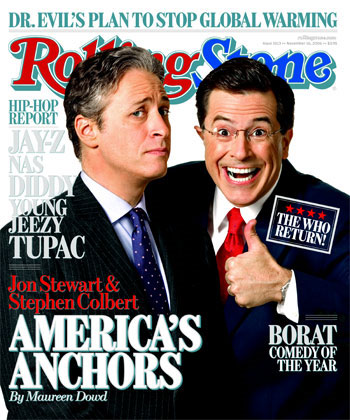 Jon Stewart and Stephen Colbert-Americas Anchors