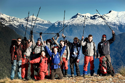 Mike Horn and his Young Explorers in New Zealand