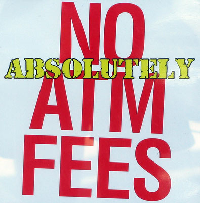 absolutely no atm fees