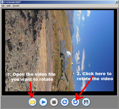 rotate quicktime video steps 1 and 2