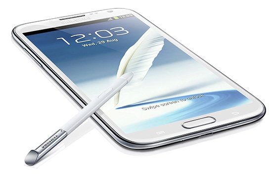 Samsung Galaxy Note 2 android smartphone (Review)