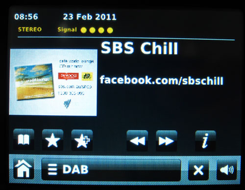 SBS Chill digital radio slideshow