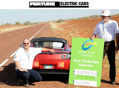 simon hackett - tesla roadster electric car - global green challenge