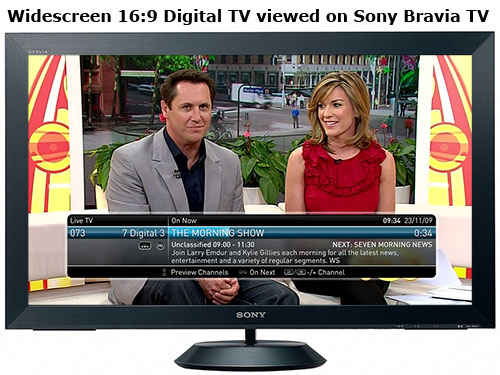 Sony Bravia TV showing Channel 7 Digital TV