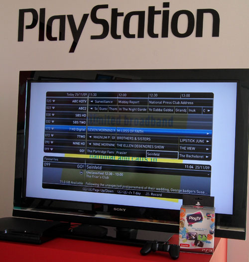 sony ps3 playtv
