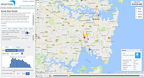 sydney flight paths