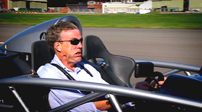 Top Gear host Jeremy Clarkson driving an Ariel Atom