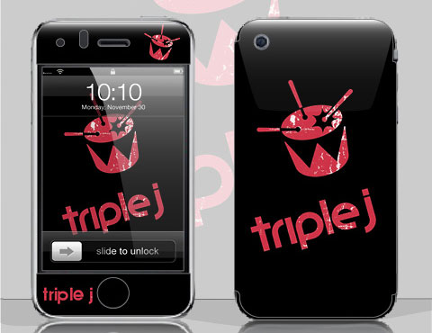 Triple J Beat the Drum - Smirkabout iPhone Skin