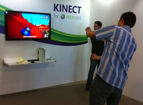 xbox kinect playing joy ride