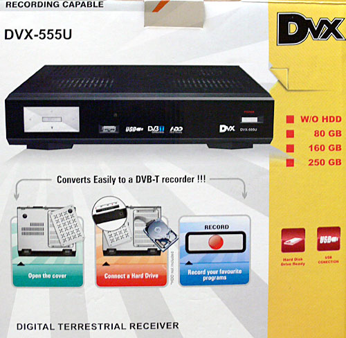 DVX 555u digital tv set top box and PVR