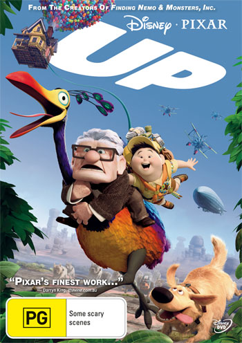 UP Pixar Anmated movie on DVD and Bluray