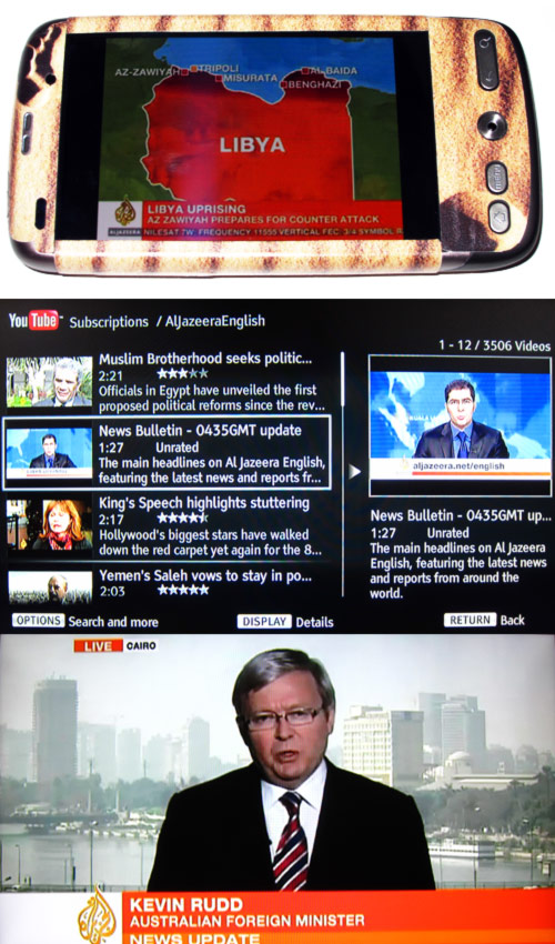Al Jazeera English-IPTV on Android mobile and TV through Youtube on Bluray Player