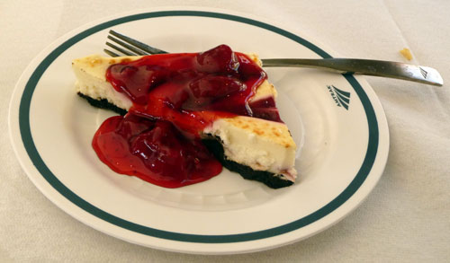 Amtrak train - raspberry cheesecake