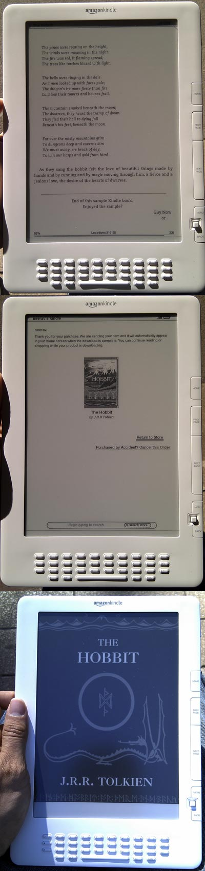 buying amazon kindle book