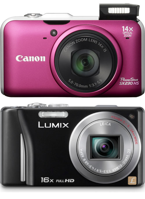 Canon PowerShot SX230 HS vs Panasonic Lumix DMC-TZ20 Compact Ultrazoom Cameras Compared