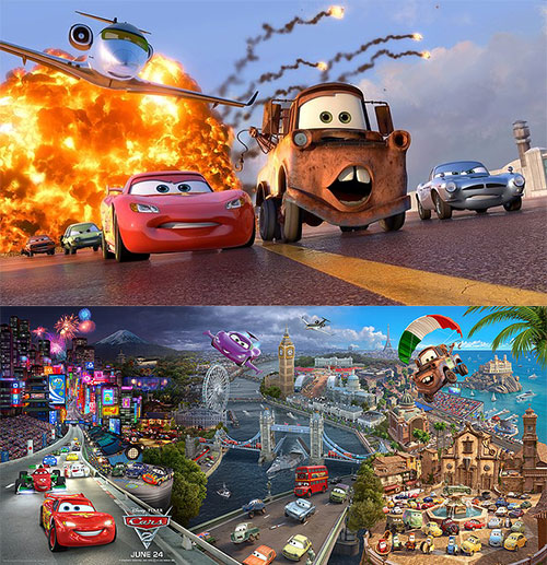 Cars 2 (IMAX 3D Animated Movie Review)