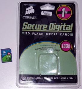 corsair 1GB 133x SD card
