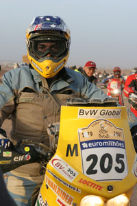 Dakar Rally - Australian motorcycle entrant, Christophe Barriere-Varju