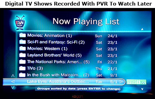 digital tv shows recorded with pvr to watch later