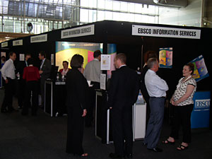EBSCO booth at the Information Online exhibition