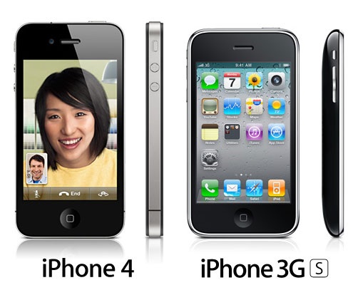iphone 4 and iphone 3gs