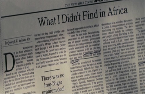 What I Didn't Find in Africa - Joseph C. Wilson - NYT Oped July 06, 2003