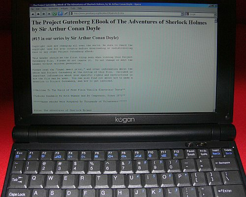 Book read on notebook/laptop computer