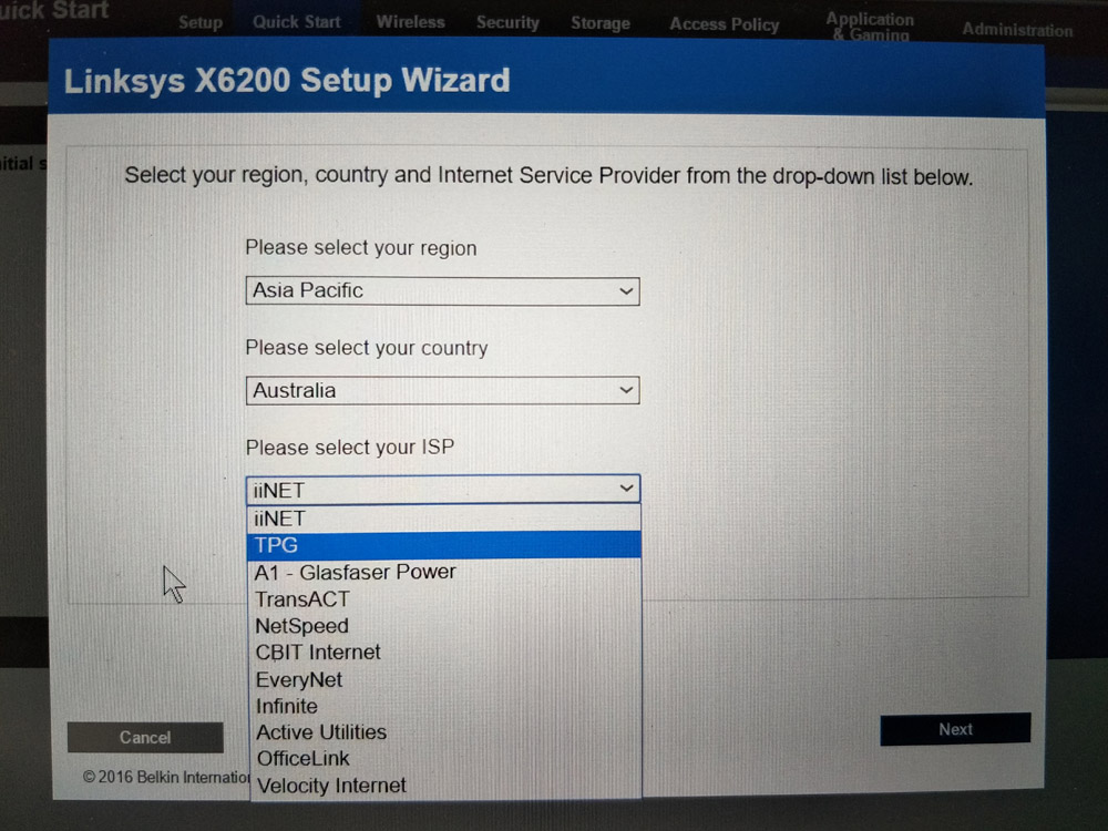 Linksys X6200 Works On TPG FTTB VDSL But Not With NBN VDSL