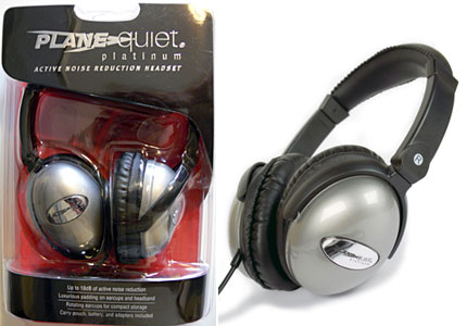 Plane Quiet Platinum Active Noise Canceling Headphones box