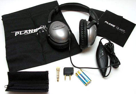 Plane Quiet Platinum Active Noise Canceling Headphones & Accessories