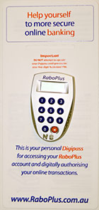 rabobank rabodirect high interest account digipass