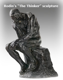 Rodins Thinker sculpture
