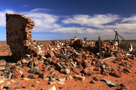 ruined house outback south australia
