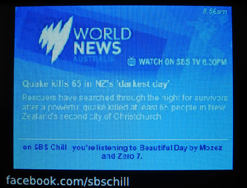 SBS Chill digital radio slideshow 3