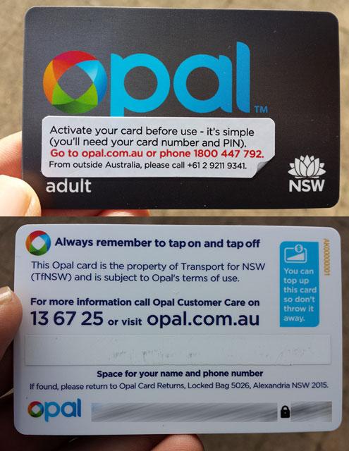 Opal cards are NXP MIFARE DESFire EV1 standard
