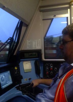 Train driver Eric Scaresbrook