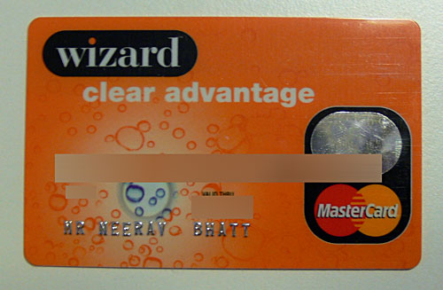 Wizard Clear Advantage Mastercard